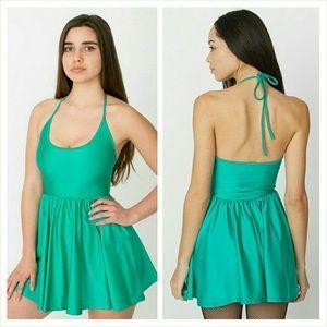 Green American apparel halter dress